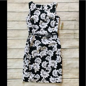 Charter Club floral belted Midi dress sleeveless 8